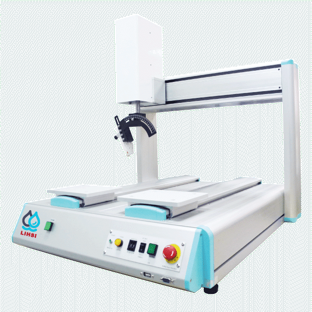 Dual Platform Automated Glue Dispensing Robot