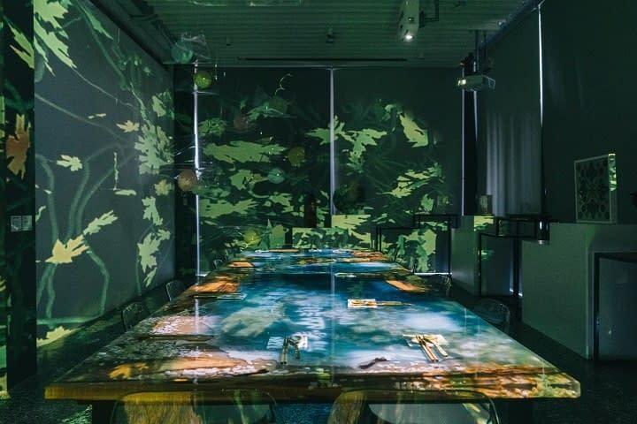 藝術膠河流桌展覽