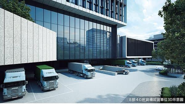台灣科技廣場 卸貨區與停車入口